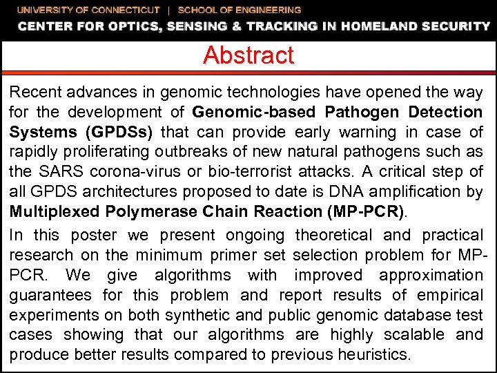 Abstract Recent advances in genomic technologies have opened the way for the development of