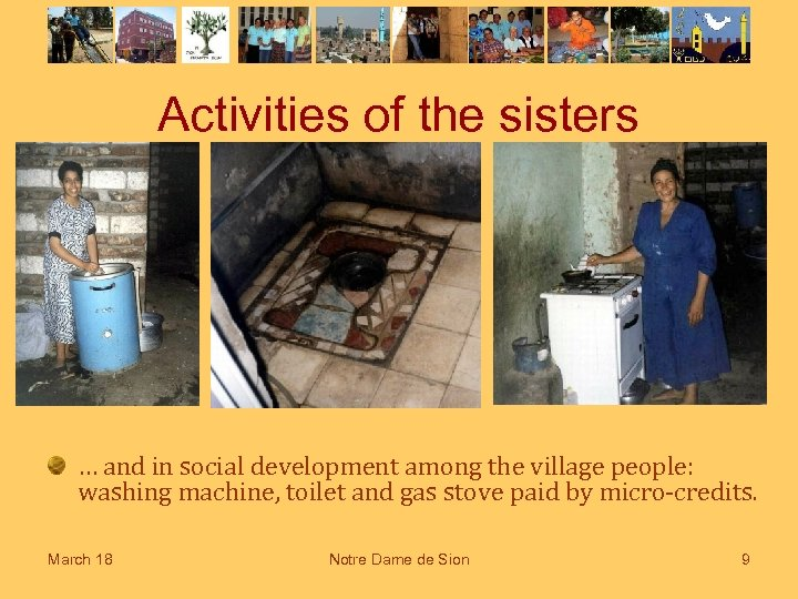 Activities of the sisters … and in social development among the village people: washing