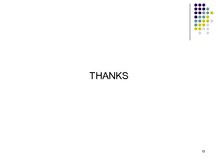 THANKS 13