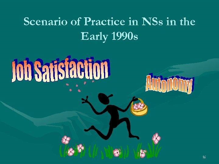 Scenario of Practice in NSs in the Early 1990 s 16
