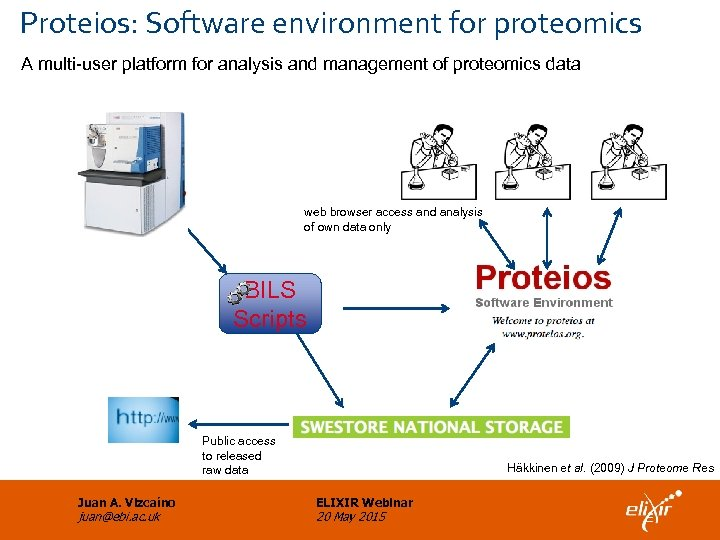 Proteios: Software environment for proteomics A multi-user platform for analysis and management of proteomics