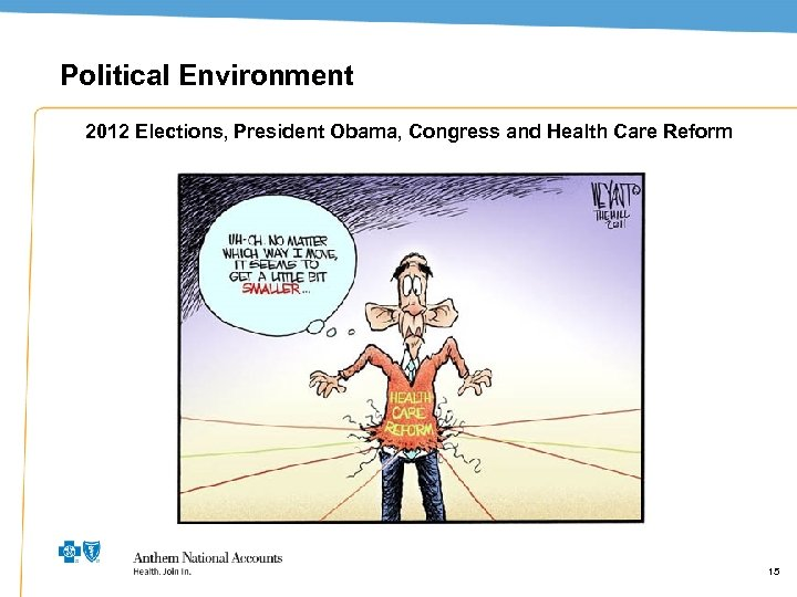 Political Environment 2012 Elections, President Obama, Congress and Health Care Reform 15 15