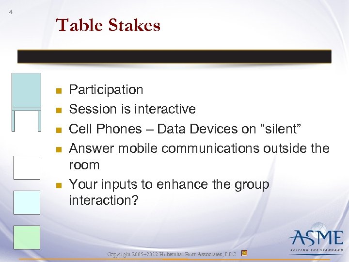 4 Table Stakes n n n Participation Session is interactive Cell Phones – Data