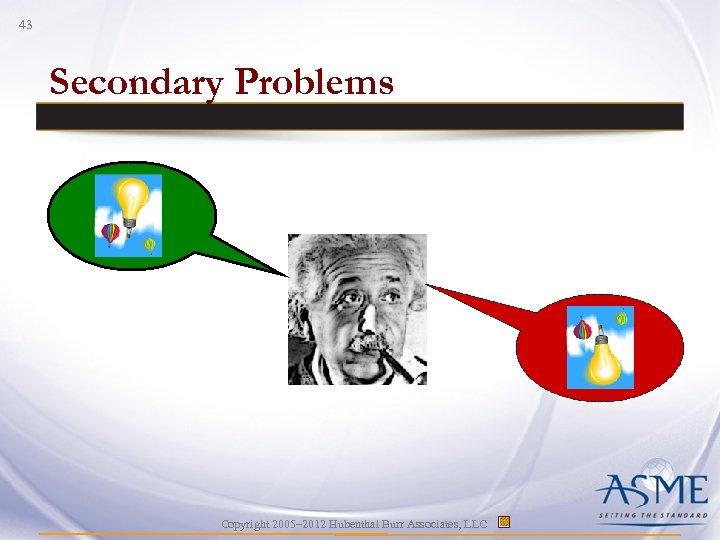 43 Secondary Problems Copyright 2005– 2012 Hubenthal Burr Associates, LLC