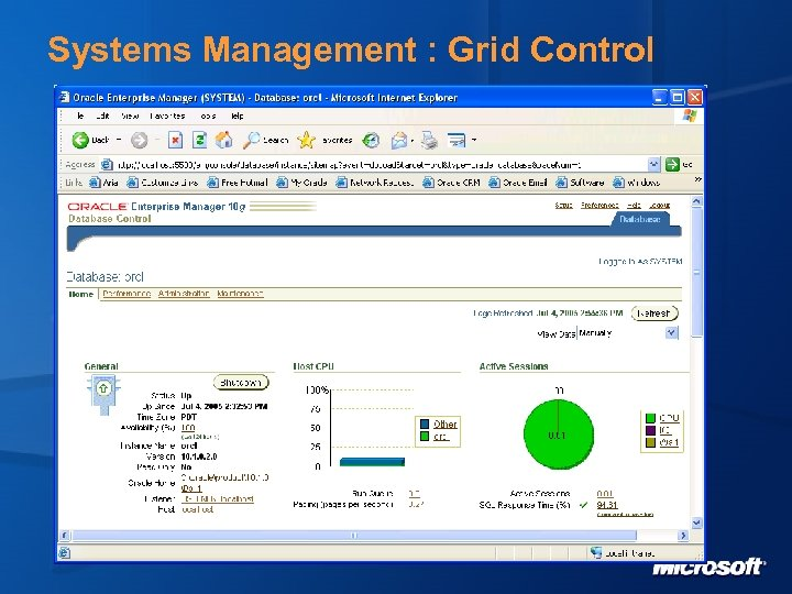 Systems Management : Grid Control