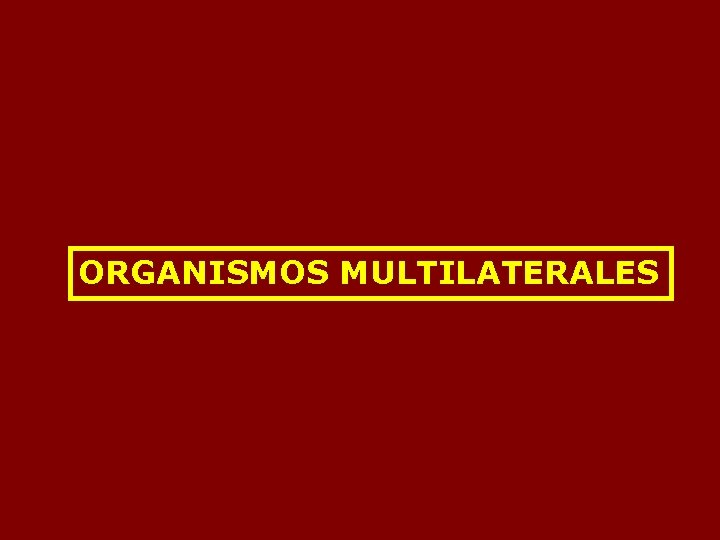 ORGANISMOS MULTILATERALES