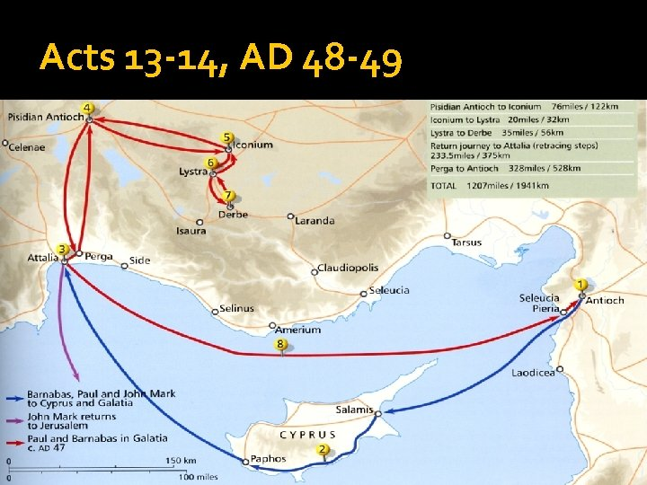 Acts 13 -14, AD 48 -49