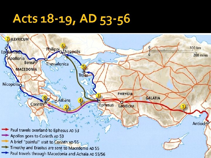 Acts 18 -19, AD 53 -56