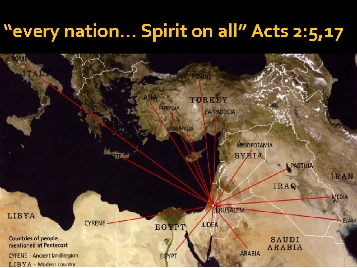 """every nation… Spirit on all"" Acts 2: 5, 17"