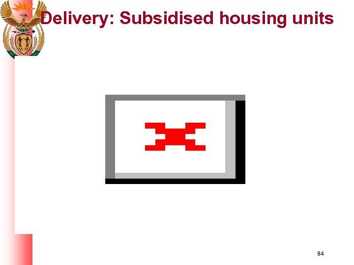 Delivery: Subsidised housing units 84