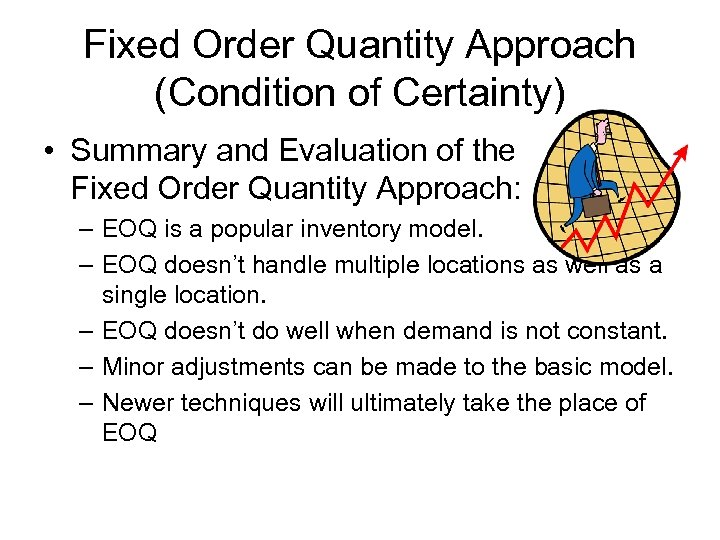 Fixed Order Quantity Approach (Condition of Certainty) • Summary and Evaluation of the Fixed