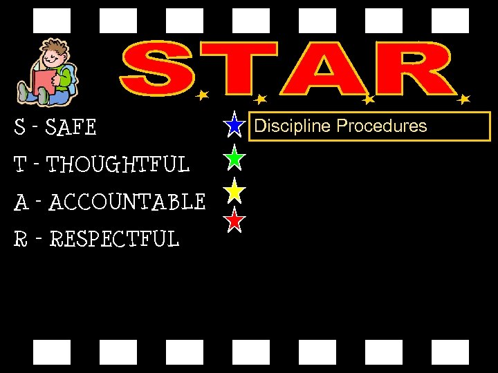 S – SAFE T – THOUGHTFUL A – ACCOUNTABLE R - RESPECTFUL Discipline Procedures