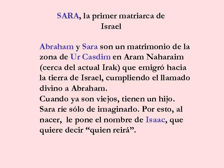 Mujeres De La Biblia Las Madres De Israel