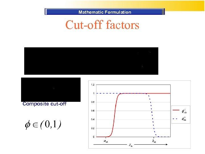 Mathematic Formulation Cut-off factors Composite cut-off
