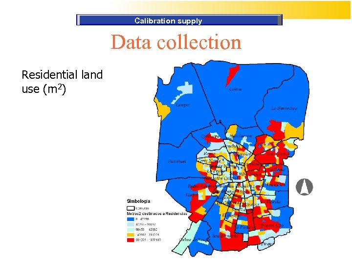 Calibration supply Data collection Residential land use (m 2)
