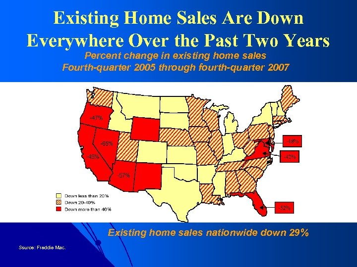 Existing Home Sales Are Down Everywhere Over the Past Two Years Percent change in