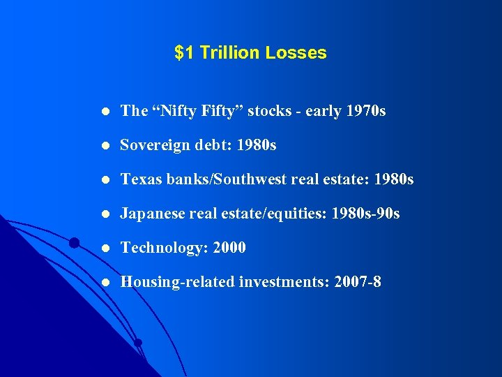 """$1 Trillion Losses l The """"Nifty Fifty"""" stocks - early 1970 s l Sovereign"""
