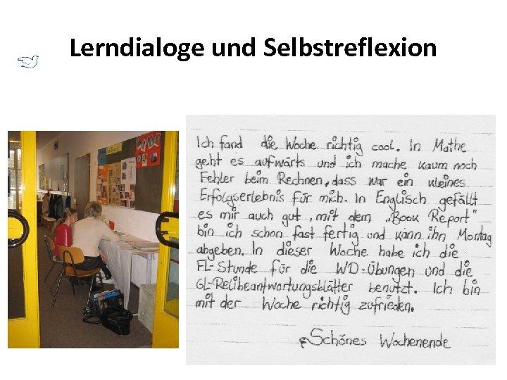 Lerndialoge und Selbstreflexion
