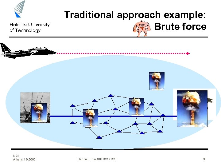 Helsinki University of Technology Traditional approach example: Brute force www. battlefront. co. nz NGI: