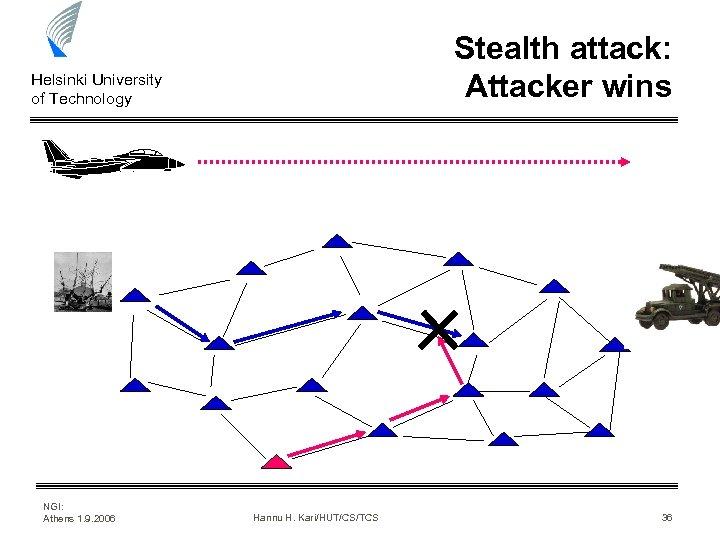Stealth attack: Attacker wins Helsinki University of Technology NGI: Athens 1. 9. 2006 Hannu