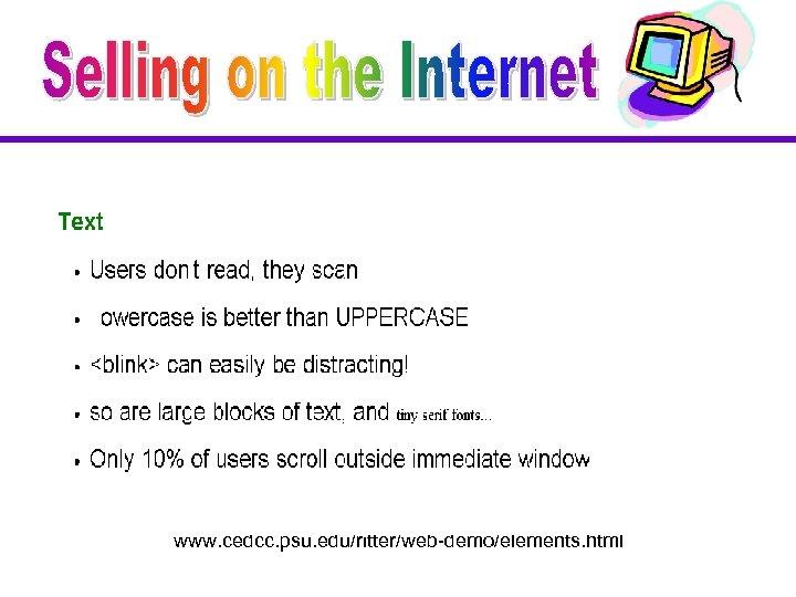 www. cedcc. psu. edu/ritter/web-demo/elements. html