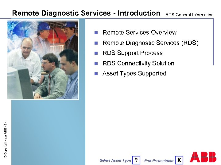 Remote Diagnostic Services - Introduction RDS General Information Remote Services Overview n Remote Diagnostic
