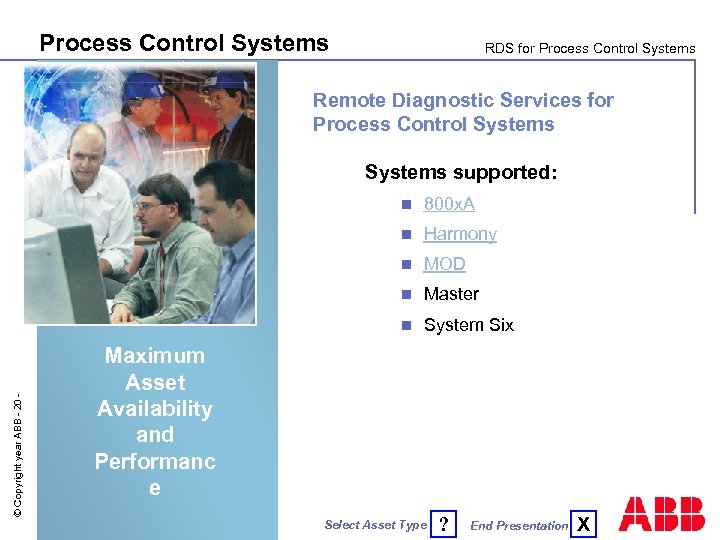 Process Control Systems RDS for Process Control Systems Remote Diagnostic Services for Process Control