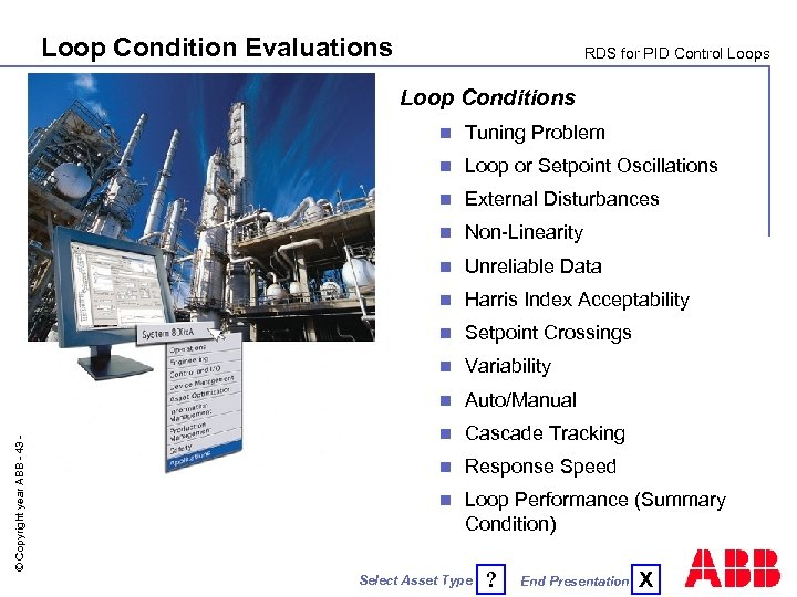 Loop Condition Evaluations RDS for PID Control Loops Loop Conditions Tuning Problem n Loop