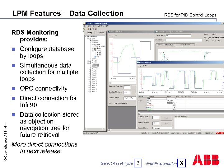 LPM Features – Data Collection RDS for PID Control Loops RDS Monitoring provides: Configure