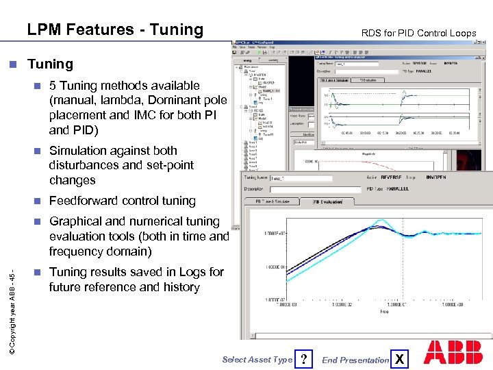 LPM Features - Tuning n RDS for PID Control Loops Tuning 5 Tuning methods