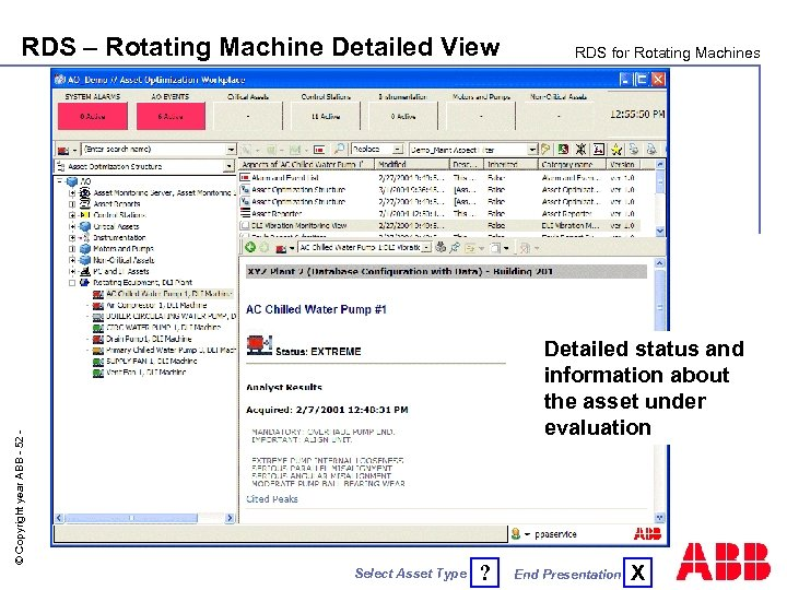 RDS – Rotating Machine Detailed View RDS for Rotating Machines © Copyright year ABB