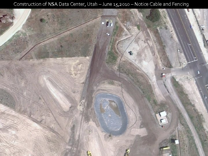 Construction of NSA Data Center, Utah – June 15, 2010 – Notice Cable and