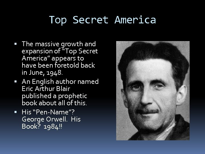 """Top Secret America The massive growth and expansion of """"Top Secret America"""" appears to"""