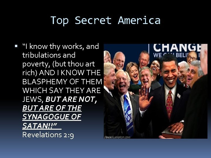 """Top Secret America """"I know thy works, and tribulations and poverty, (but thou art"""