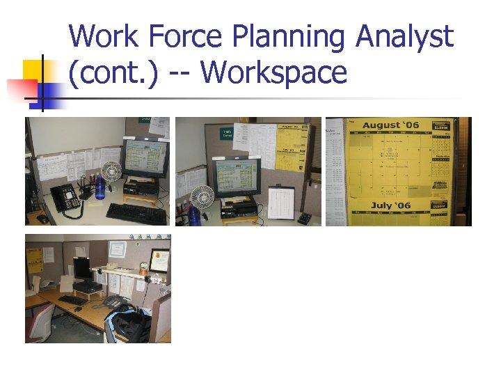 Work Force Planning Analyst (cont. ) -- Workspace