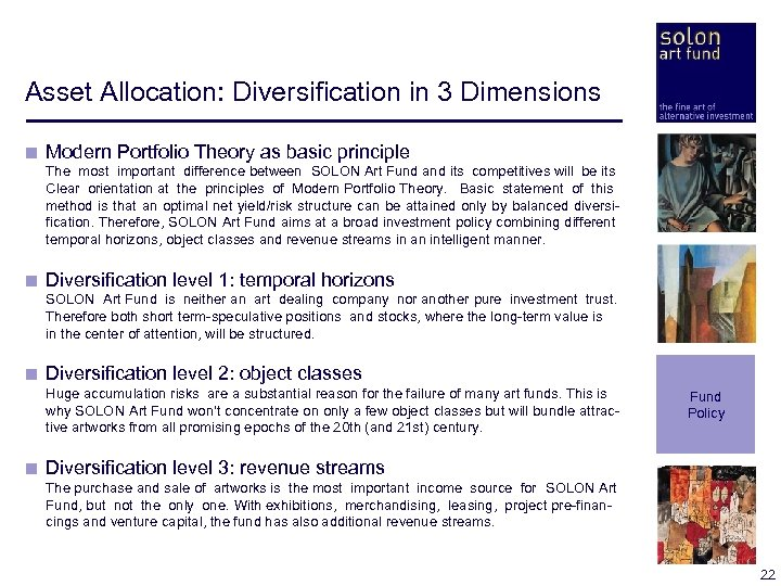 Asset Allocation: Diversification in 3 Dimensions < Modern Portfolio Theory as basic principle <