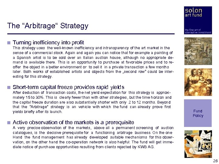 "The ""Arbitrage"" Strategy < Turning inefficiency into profit < This strategy uses the well-known"