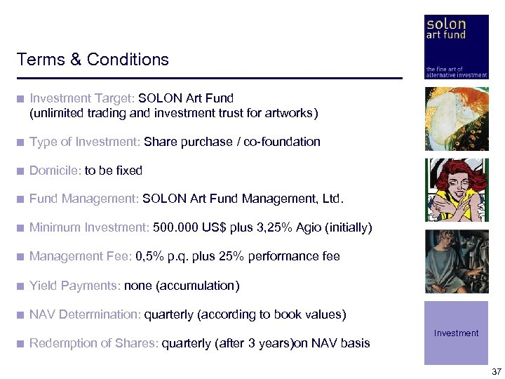 Terms & Conditions < Investment Target: SOLON Art Fund (unlimited trading and investment trust