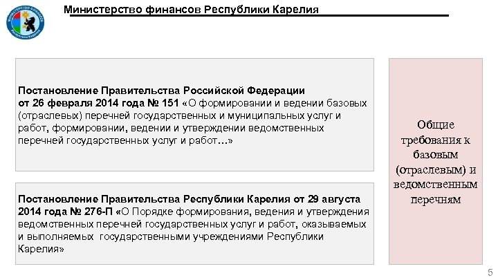 Министерство финансов Республики Карелия Постановление Правительства Российской Федерации от 26 февраля 2014 года №