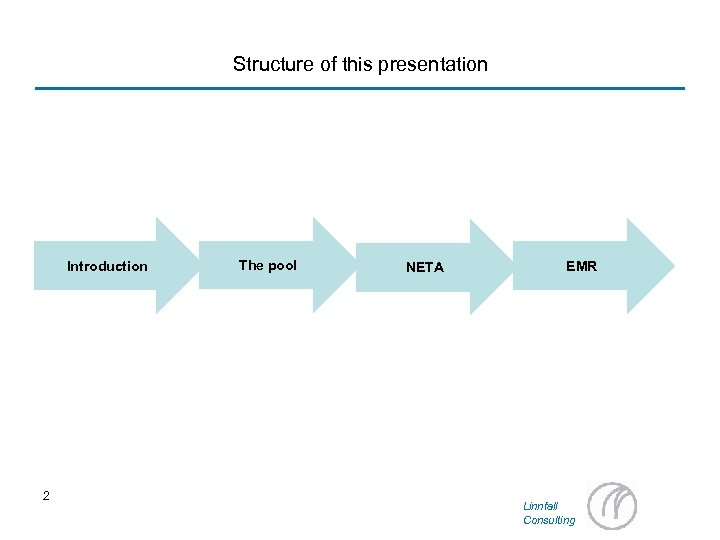 Structure of this presentation Introduction 2 The pool NETA EMR Linnfall Consulting
