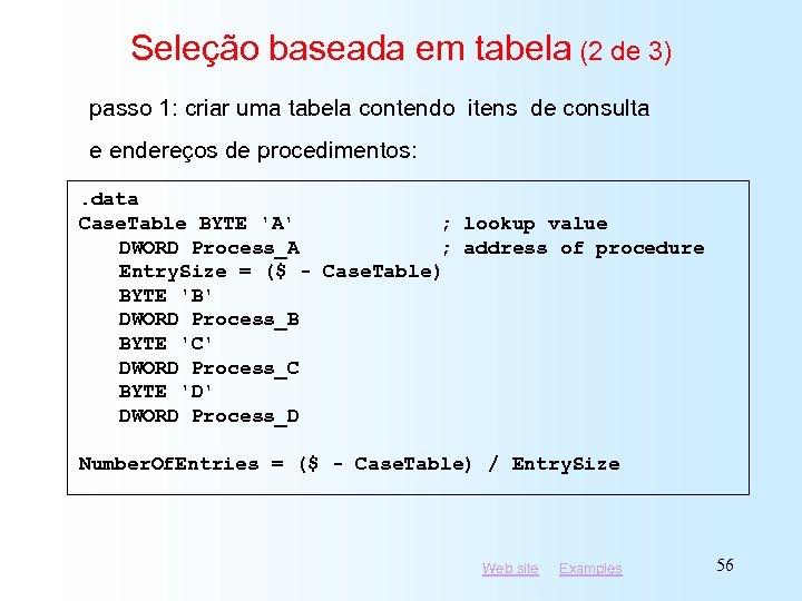 Seleção baseada em tabela (2 de 3) passo 1: criar uma tabela contendo itens