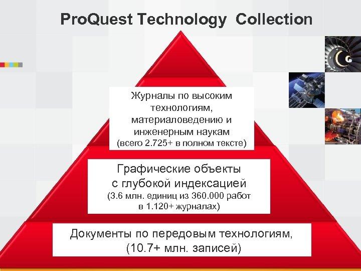 Pro. Quest Technology Collection Журналы по высоким технологиям, материаловедению и инженерным наукам (всего 2.