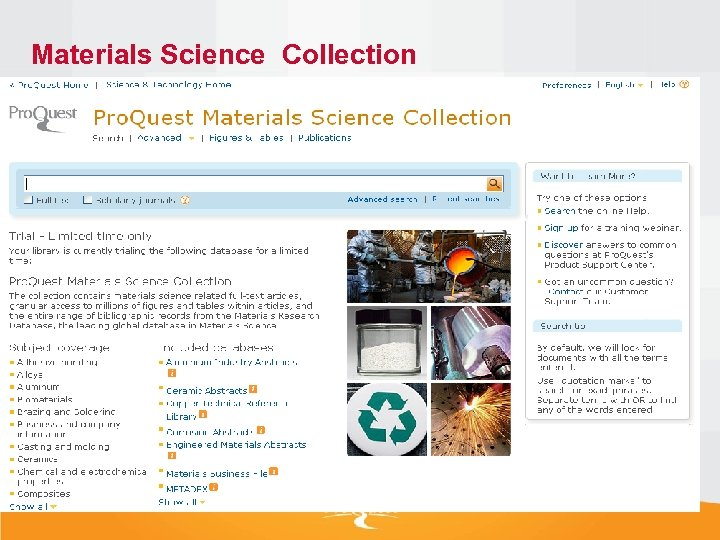 Materials Science Collection