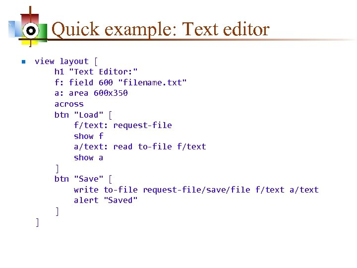 Quick example: Text editor n view layout [ h 1