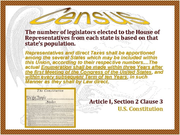 The number of legislators elected to the House of Representatives from each state is