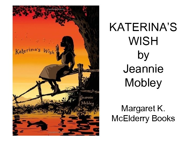 KATERINA'S WISH by Jeannie Mobley Margaret K. Mc. Elderry Books