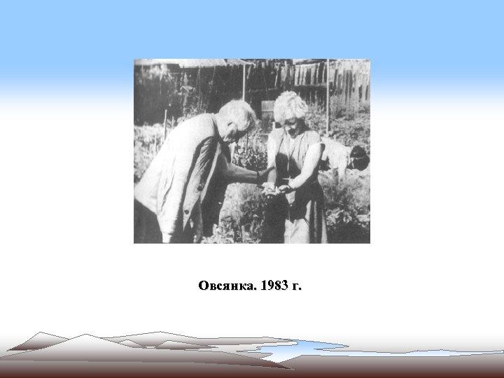 Овсянка. 1983 г.