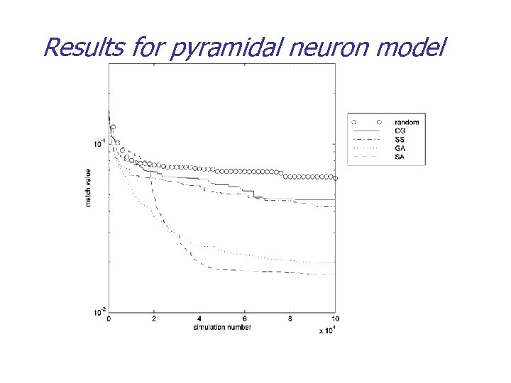 Results for pyramidal neuron model