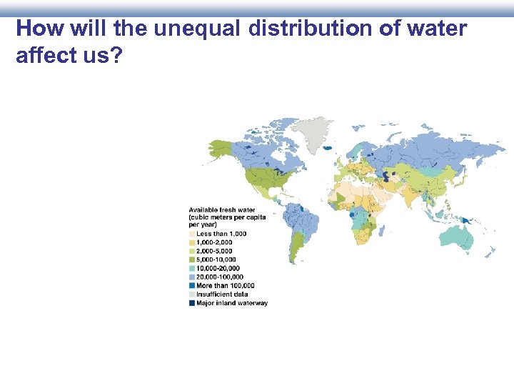 How will the unequal distribution of water affect us?
