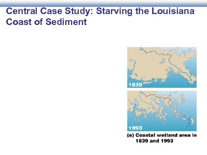 Central Case Study: Starving the Louisiana Coast of Sediment